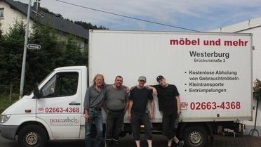 die Mannschaft der Möbelhalle Westerburg